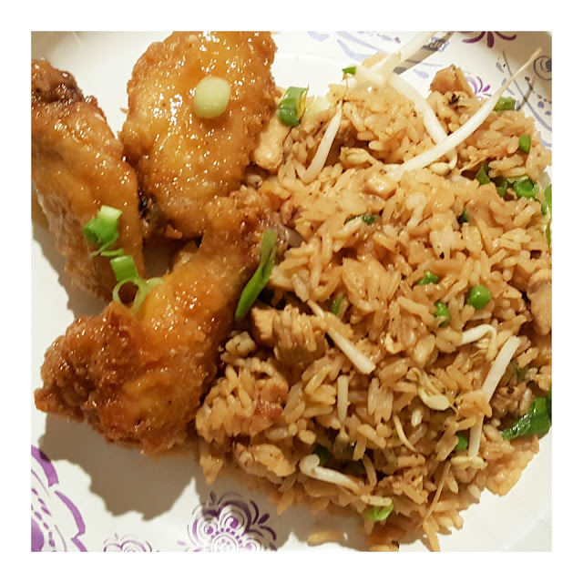 Stir-fry rice, homemade, honey wings recipe, eventsojudith