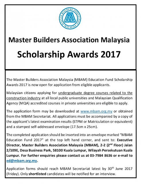 MBAM Education Fund Scholarship Awards 2017