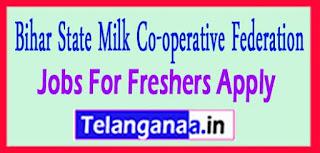 Bihar State Milk Co-operative Federation Recruitment Notification 2017 last date 30-03-2017