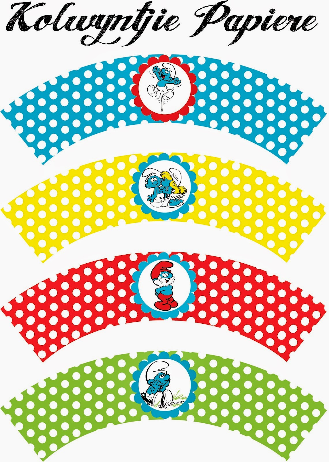 Smurfs Free Printable Mini Kit Oh My Fiesta In English