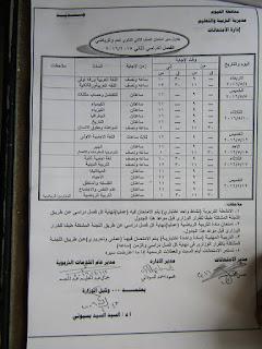 جدوال امتحانات اخر العام 2016 محافظة الفيوم بعد التعديل 13006661_10204879241221254_2728537323757516592_n