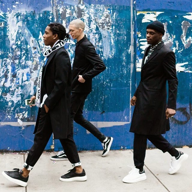 37c19d935030 ASAP Rocky and ASAP Nast Walk The Town in Alexander McQueen Exaggerated  Sole Sneakers
