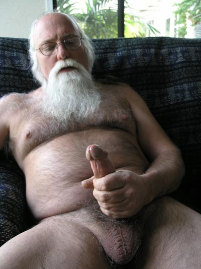 fat naked old man