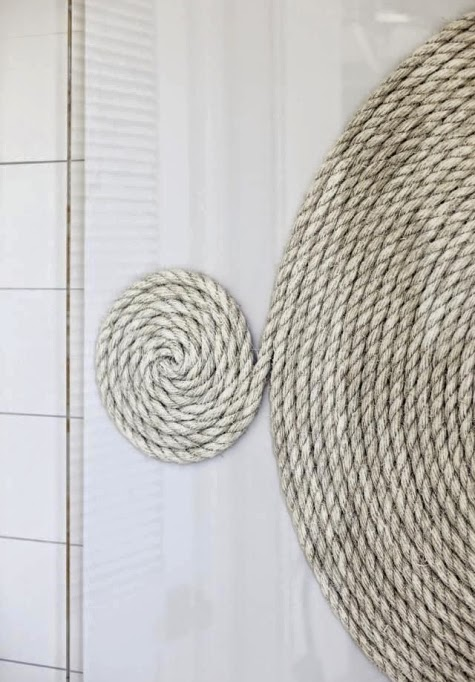 rope coil wall art
