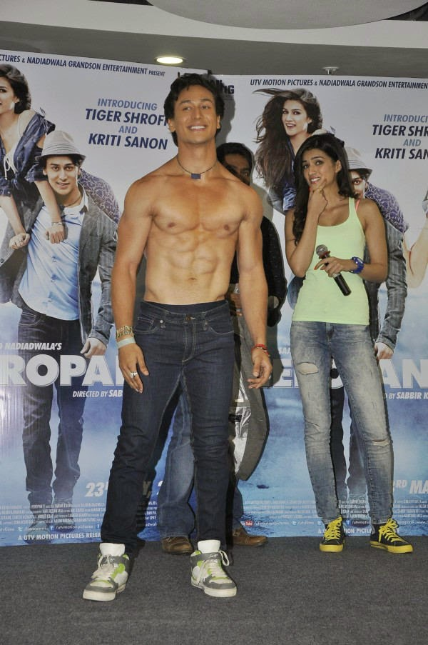 Tiger Shroff Shirtless