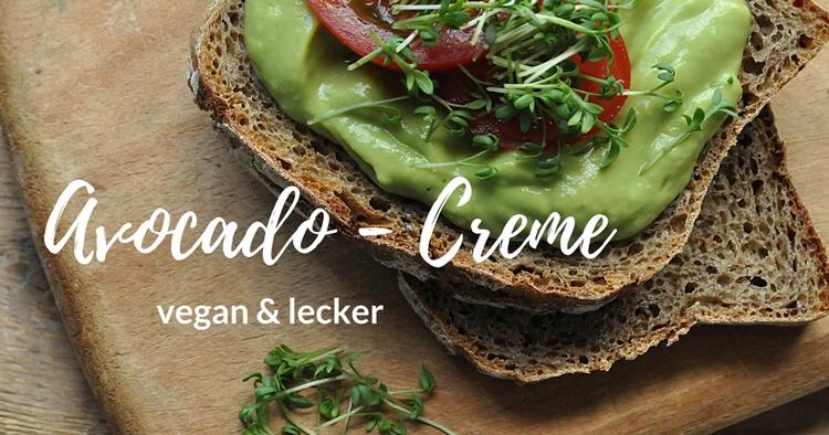 Avocado Creme vegan Rezept