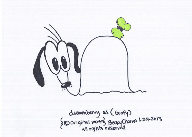 Dummberry is Such a Goof Garsh, 2013, dummberry, beckycharms, San Diego, art, arte, Disney, Disneyland, goofy, snail, illustration, comic, cartoon, Sharpie,