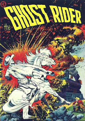 Ghost Rider v1 #3 comic book cover art by Frank Frazetta