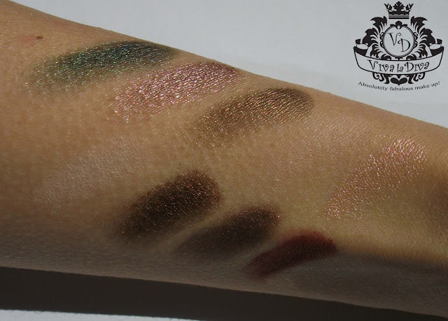 Viva La Diva Move Me Jungle eyeshadow kit,with swatches by Valentina Chirico