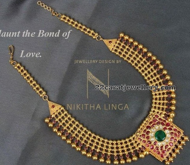 Antique Broad Necklace by Nikitha Linga