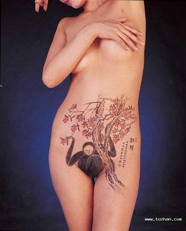 Chinese hot body painting