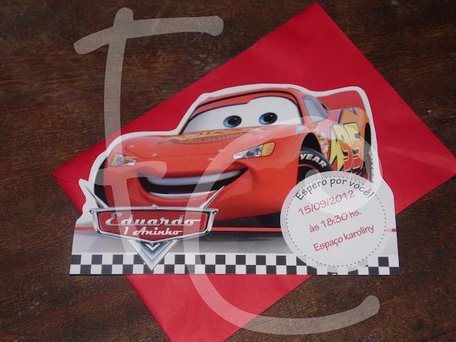 Convite - Tema Carros - Formato Diferenciado