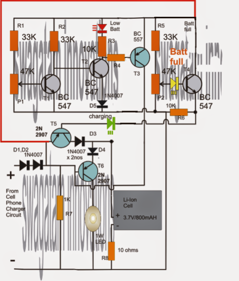 04 r6 wiring diagram: li-ion emergency light circuit with over charge  and low