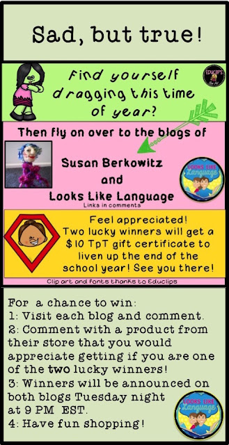 $10 TpT gift card contest at Look-Like-Language!