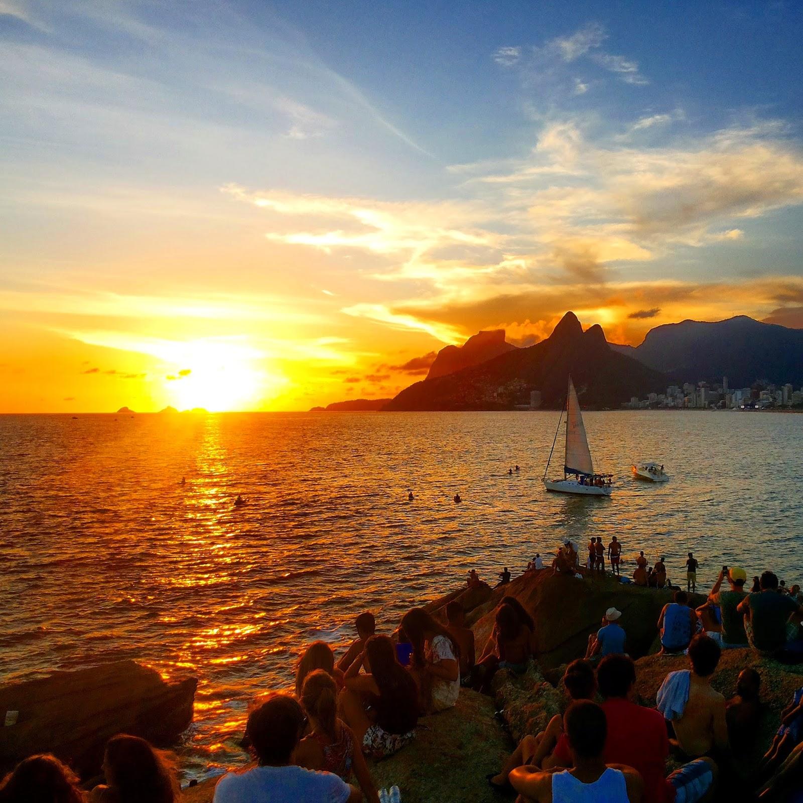 Rio de Janeiro e o Espetáculo do Pôr do Sol! Onde ver? | Apaixonados por  Viagens | Roteiros e Dicas de Turismo