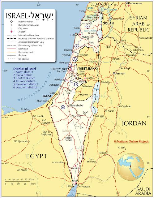State of Israel Map - Car Radio | GPS