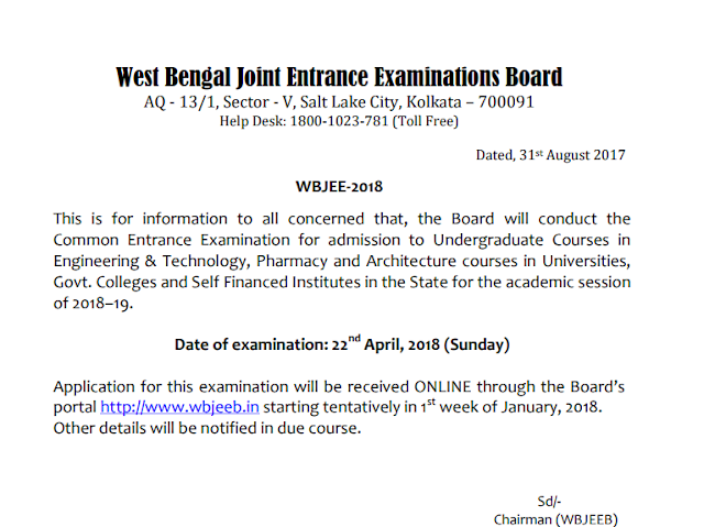 Wbjee 2018 Overview and Exam Date