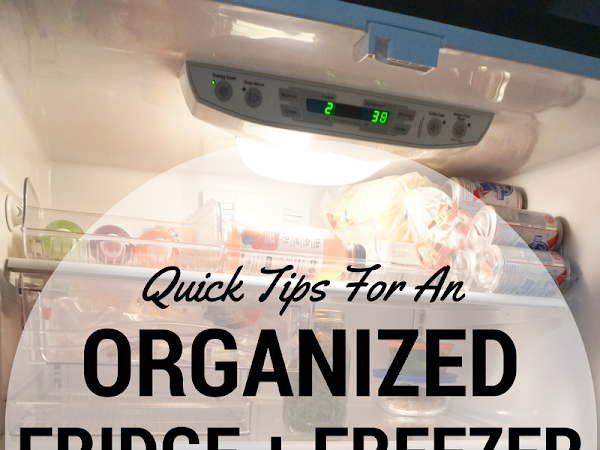 Quick Tips for an Organized Fridge and Freezer