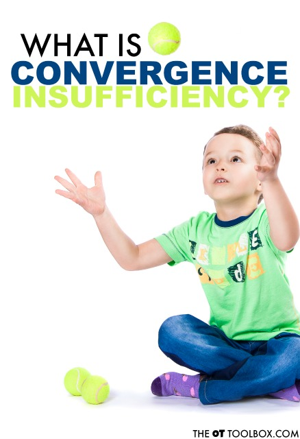 Convergence insufficiency is a vision problem that many kids experience when struggling with learning or reading. This article explains OTs role in vision problems and also what is convergence insufficiency, screening  tools for convergence, how to identify convergence.