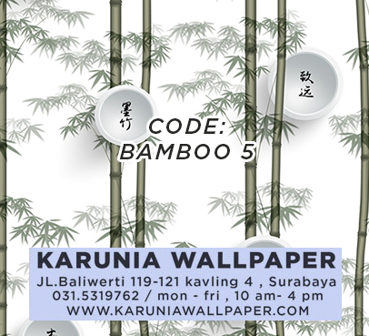 jual wallpaper bambu
