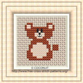 Bear, Free and easy printable cross stitch pattern