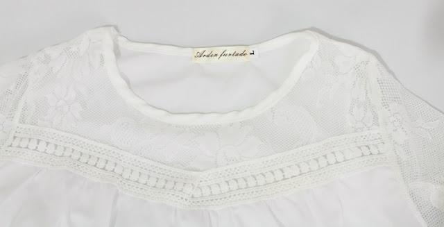 Sammydress España Blusa blanca de encaje