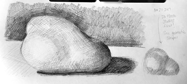 Daily Art 11-27-17 still life sketch in graphite number 36 - pear