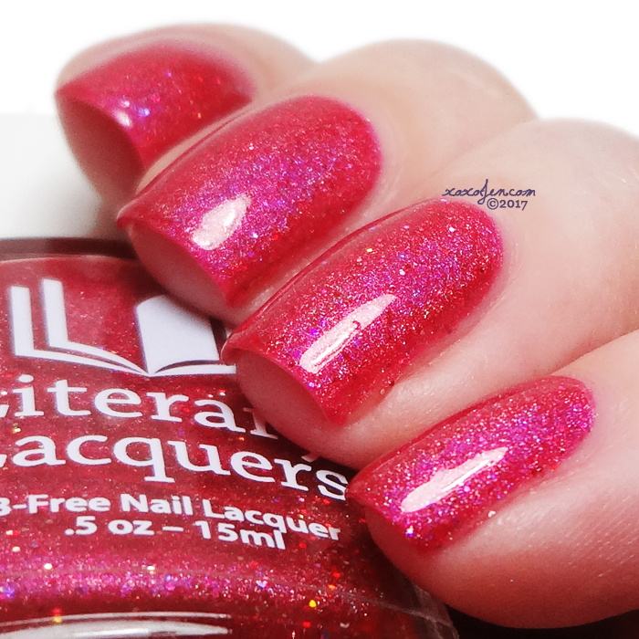 xoxoJen's swatch of Literary Lacquers Raspberry Cordial?