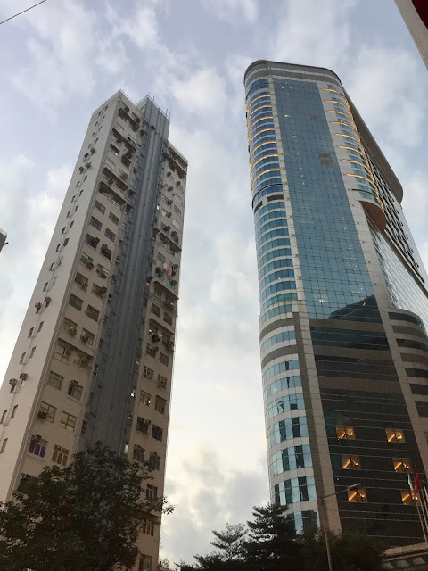 Buildings in Mongkok, Kowloon, including Cordis Hotel - Hong Kong