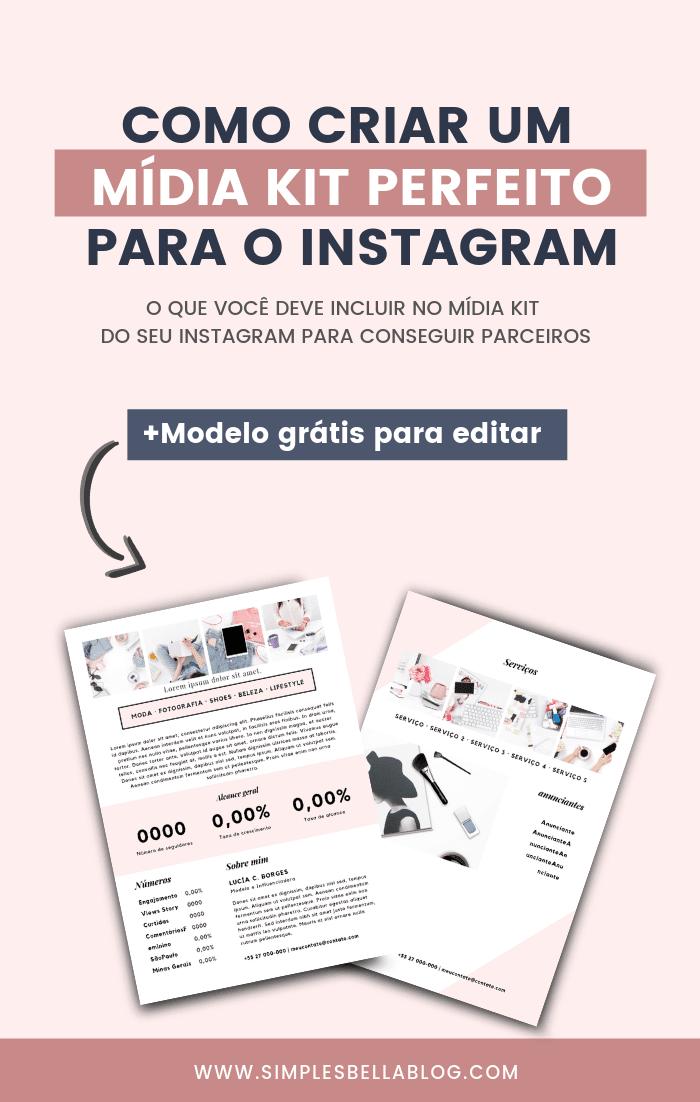 Como criar um Mídia Kit Instagram