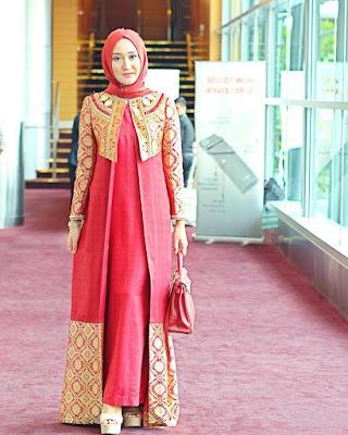 Dress Panjang Batik Remaja Lengan Panjang