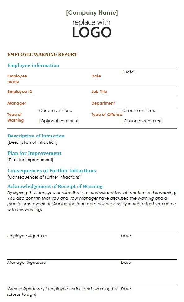 employee separation notice template - warning notice template