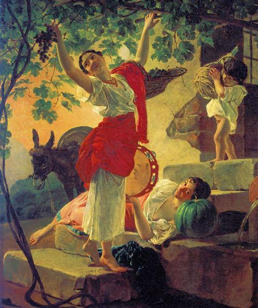 Карл Павлович Брюллов Девушка, собирающая виноград в окрестностях Неаполя