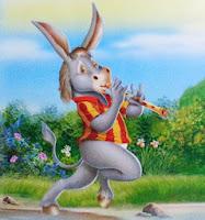 fabula corta el burro flautista
