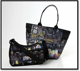 New LeSportsac.com Disney-Pixar's Monsters, Inc, artwork by Harley Jessup