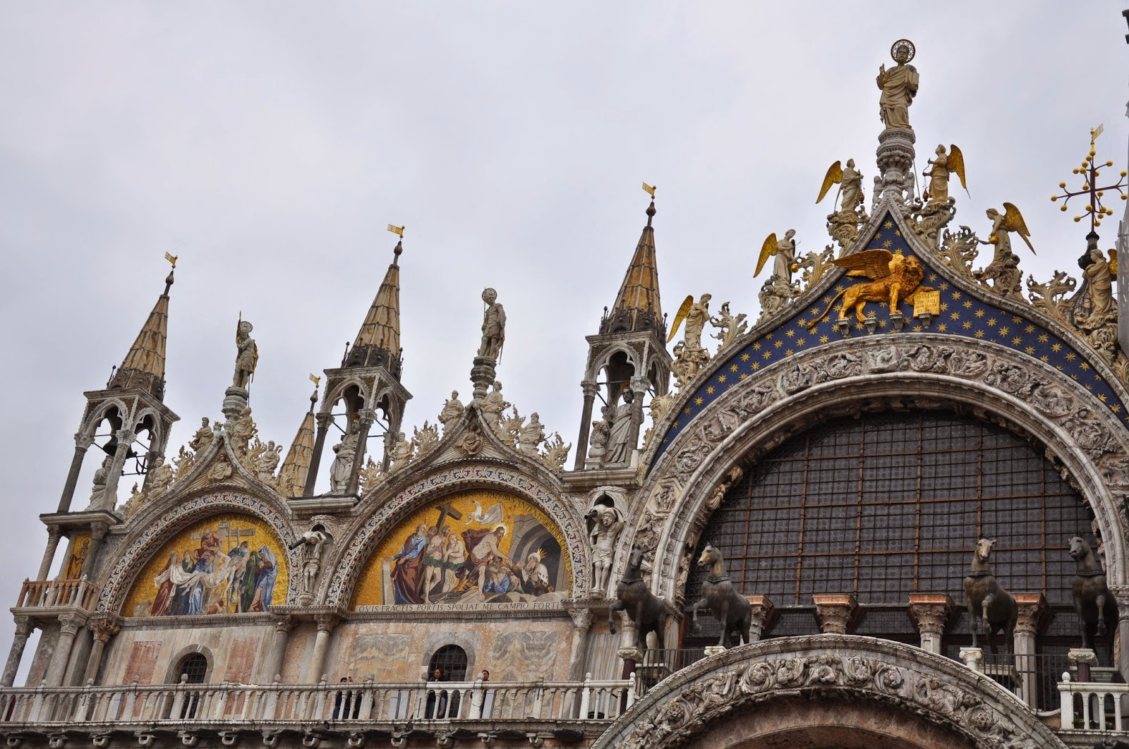 The facade of St. Mark's Basilica in Venice