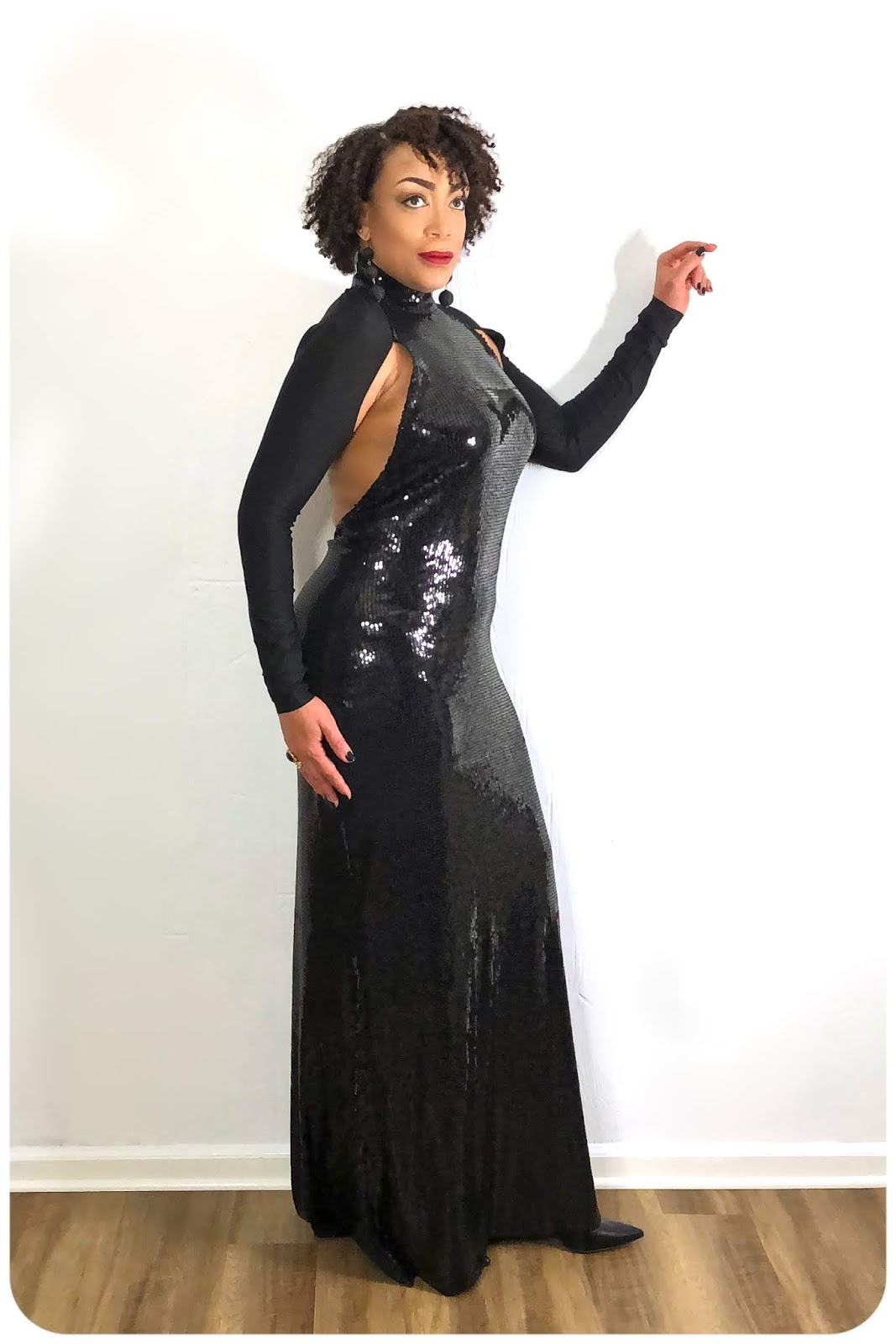 Vintage Vogue 2230 - Full-Length Black Sequin Gown - Erica Bunker DIY Style!