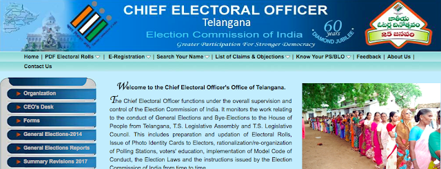 Telangana State CEO Official Website