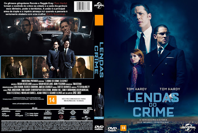 Capa DVD Lendas Do Crime