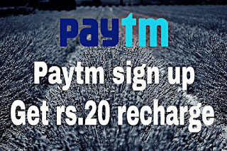 Paytm Sign up Get rs.20 Free Recharge trick 2016