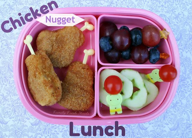 Healthy Chicken Nugget Lunch