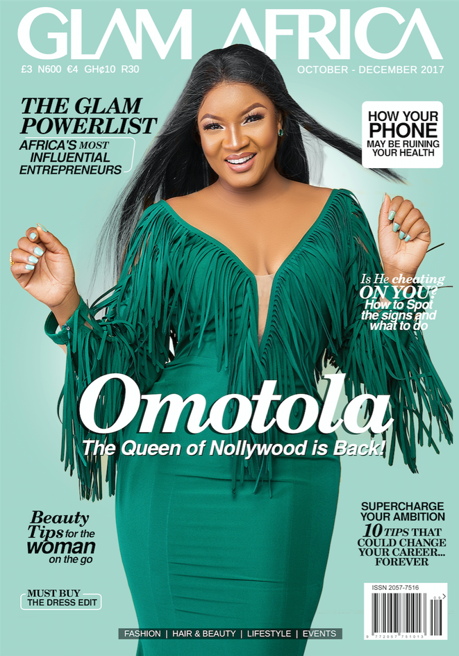 Nollywood Screen Diva Omotola Jalade Ekeinde dazzles on the Cover of Glam Africa Magazine