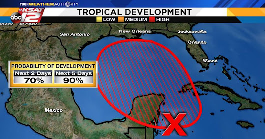 90% Chance Of Tropical Storm Development In Gulf