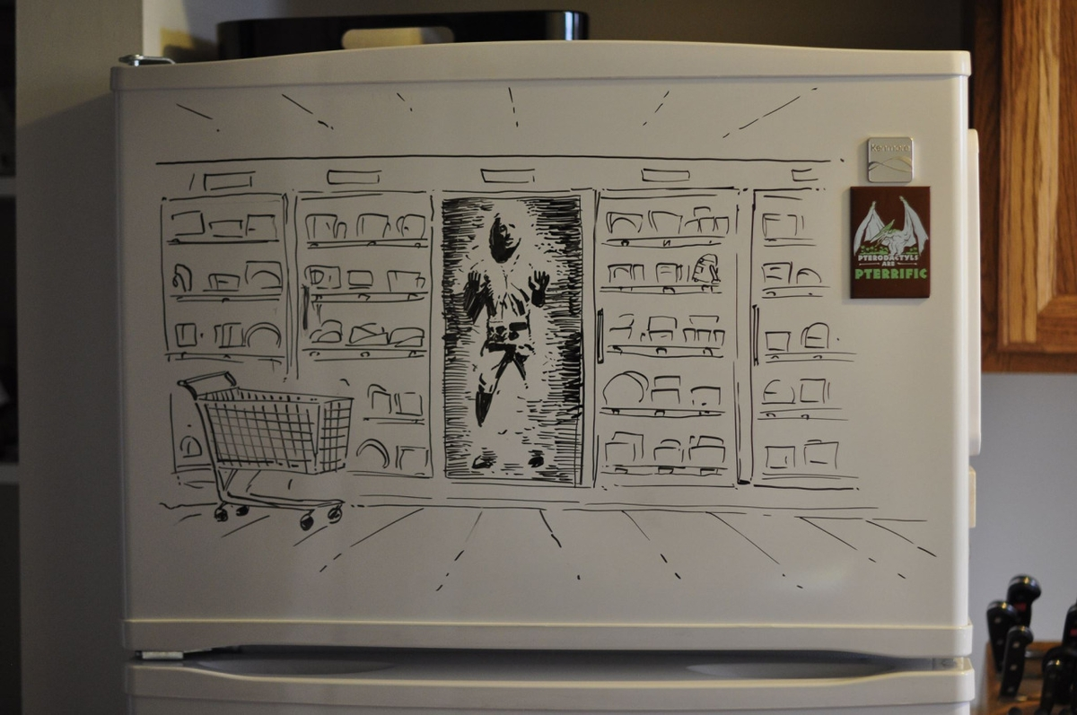 02-Han-Solo-Star-Wars-Harrison-Ford-Charlie-Layton-Freezer-Door-Drawings-and-Illustrations-www-designstack-co