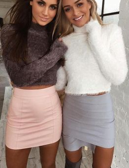 Women's High Neck Super Soft Cropped Sweater