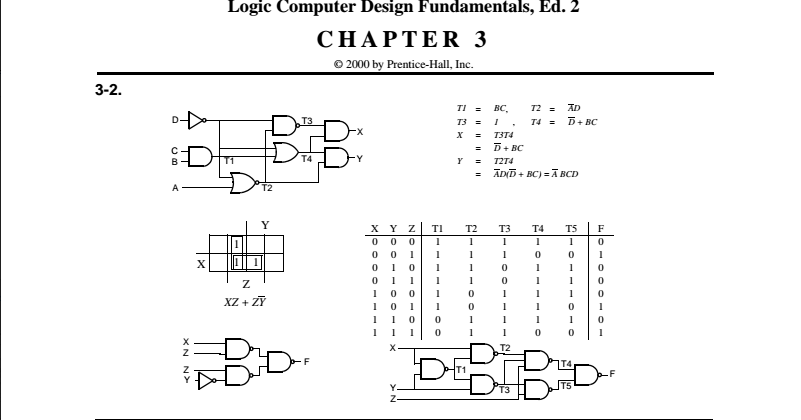 logic and computer design fundamentals 5th edition solutions  Engineering