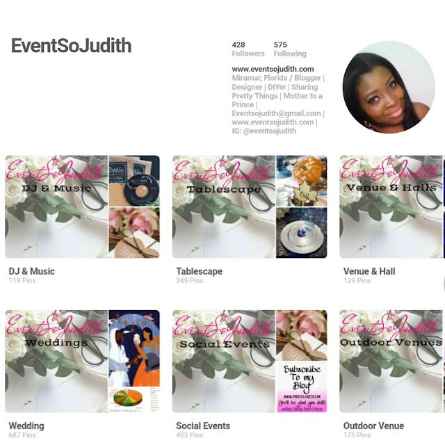 EventSoJudith Pitnerest Page, Pinterest Wedding Boards,