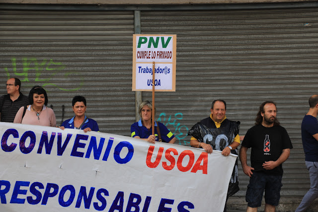 protesta de trabajadores de Usoa