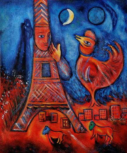 marc chagall paris through my window tutt 39 art pittura scultura poesia musica. Black Bedroom Furniture Sets. Home Design Ideas