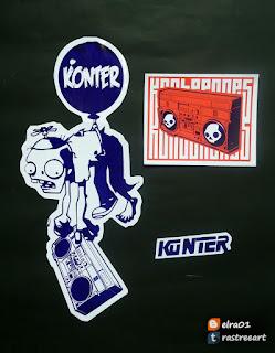 Tutoriales para hacer stickers y graffiti para la calle con Konter